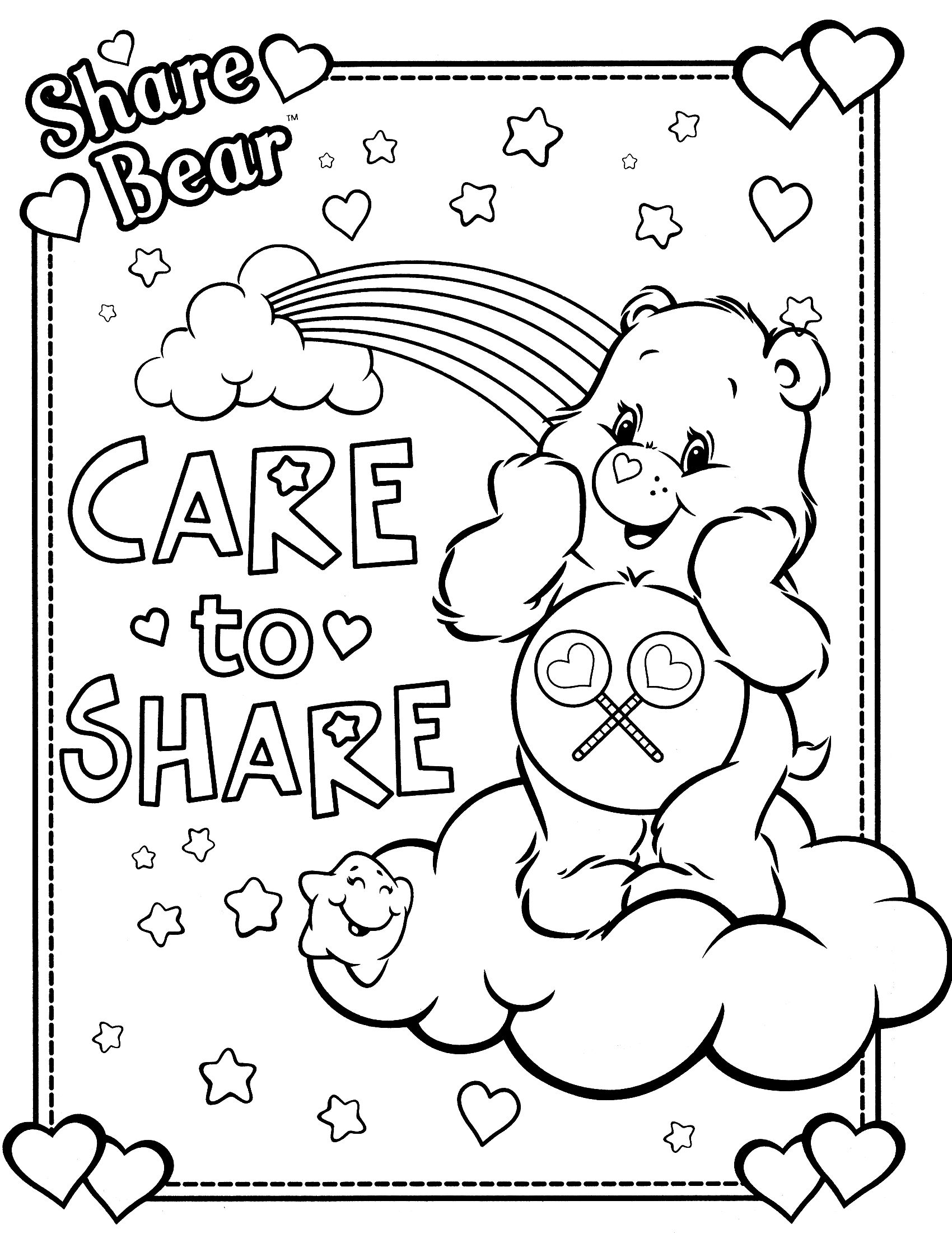 Book care coloring sheet - Care Bears Coloring Pages Care Bears Coloring Page 11