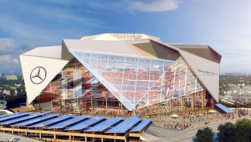 Mercedes Benz Stadium Atlanta Falcons Stadium Nfl Stadiums New Nfl Stadiums