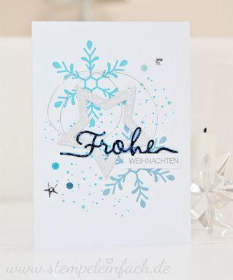 Winterliche Weihnachtsgrüße.Winterliche Weihnachtsgrüße Stempel Einfach Sylwia Schreck