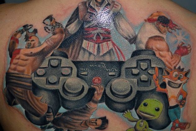 Awesome Tattoo Design Ideas Uulov Gaming Tattoo Playstation Tattoo Video Game Tattoos