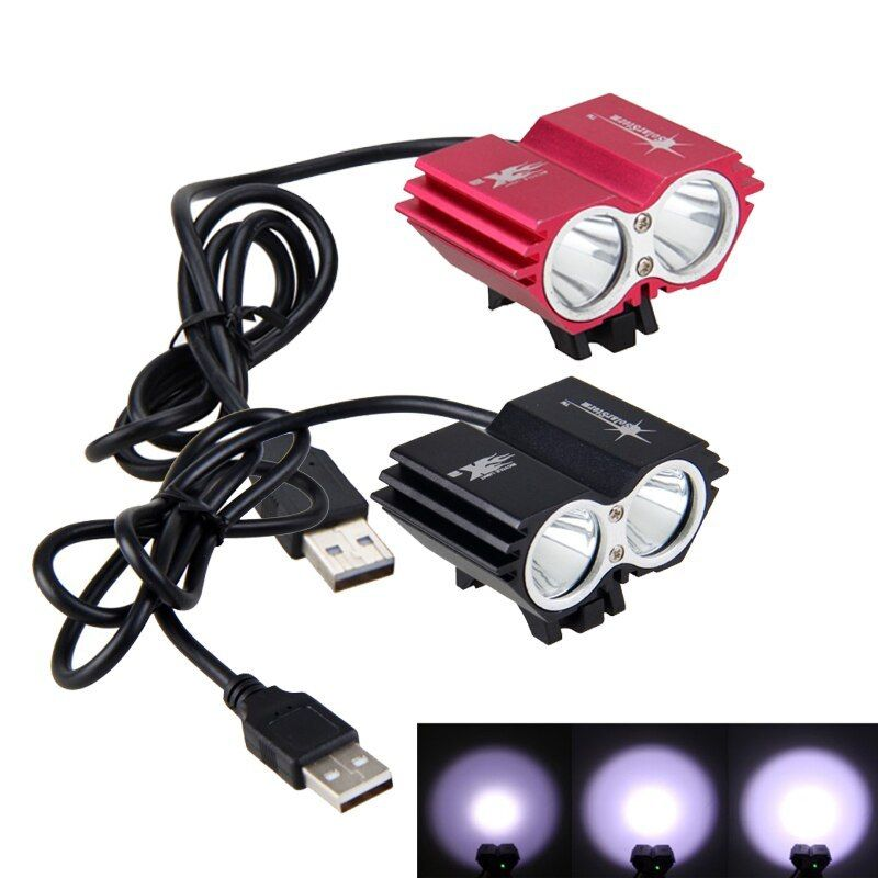 5000LM 5V XM-L2 USB Rechargeable LED Bike Bicycle Light Cycling Head Light Lamp