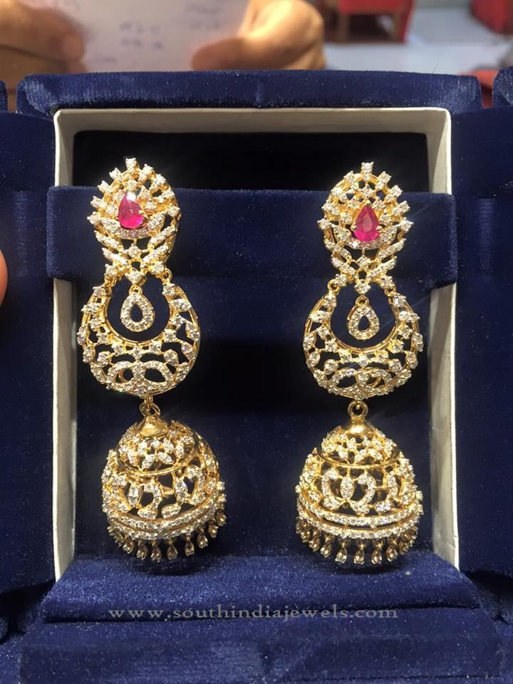 big designs layered diamond jhumka jhumkas pin