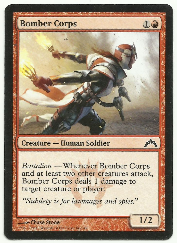 Bomber Corps X1 Mtg Gatecrash Red Human Soldier Creature
