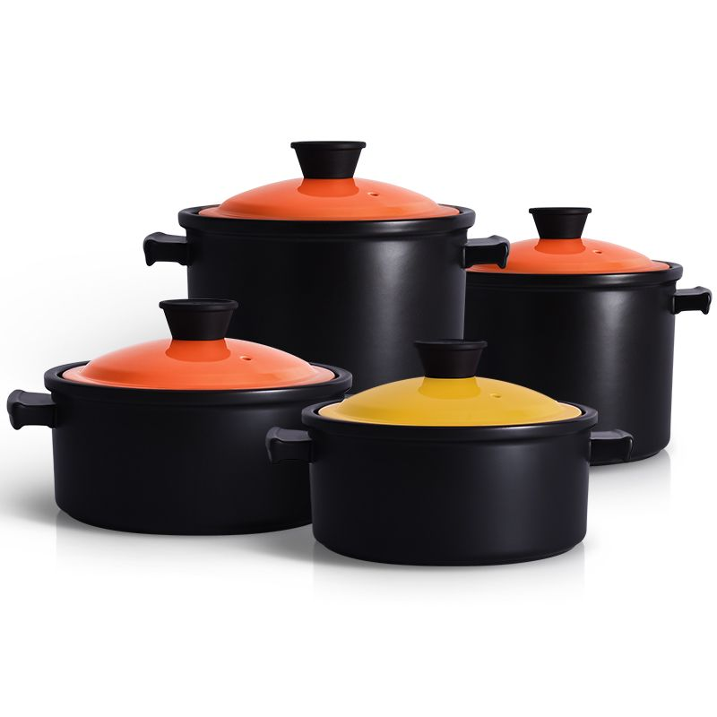 Ceramic Soup Pots For Induction Plates Gas Stove Stewpot Stewing Casserole Ceramic Cooking Pot Cookware Cocotte Ceramique Gas Stove Stewpot Cooking Pot