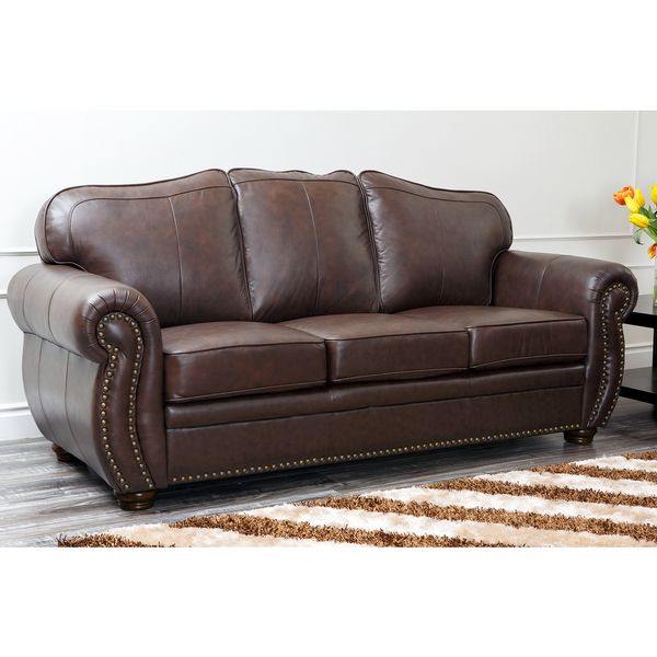 Charmant ABBYSON LIVING Richfield Top Grain Leather Sofa   Overstock™ Shopping    Great Deals On Abbyson Living Sofas U0026 Loveseats