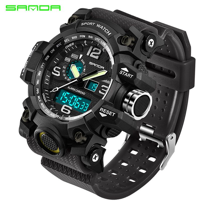 d7525d60b4e SANDA Military Sport Watch Men Top Brand Luxury Famous Electronic LED  Digital Wrist Watches For Men Male Clock Relogio Masculino   Price   25.99    FREE ...
