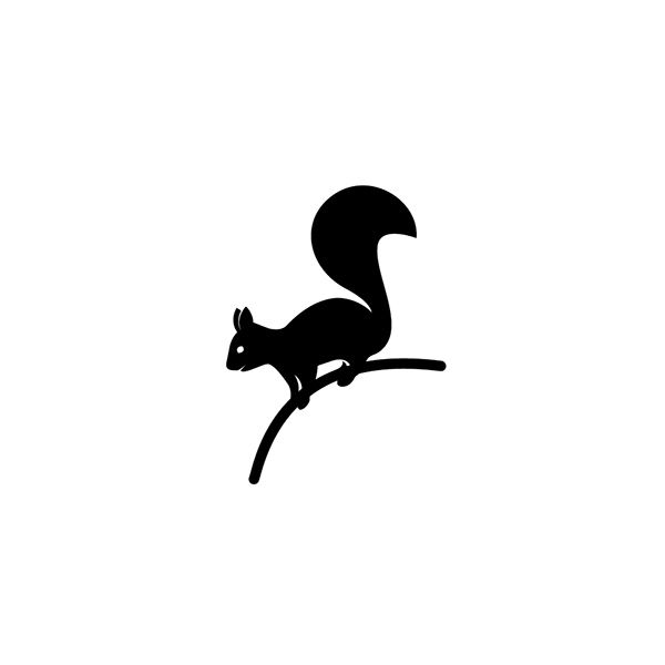 Animals On Behance Squirrel Silhouette Squirrel Tattoo Silhouette Tattoos