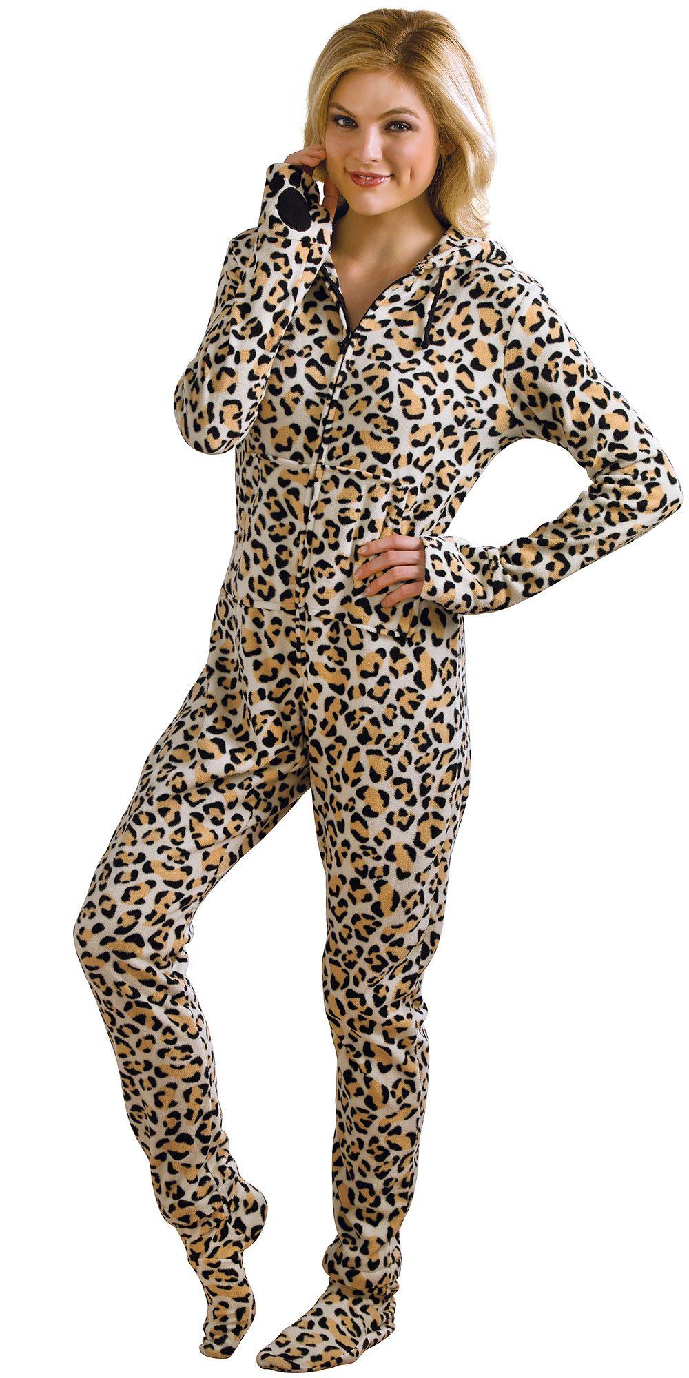 HoodieFootie™ Leopard in 2019 Onesie pajamas, Pajamas