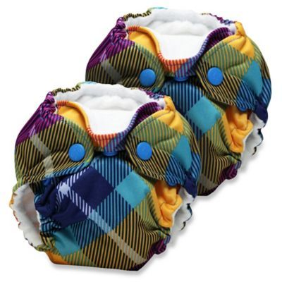 Kanga Care Lil Joey Newborn 2-Pack All-In-One Cloth Diaper in Preppy Plaid - BedBathandBeyond.com