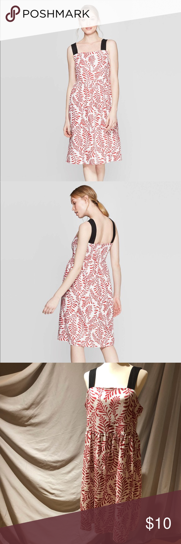 Target Who What Wear Red Leaf Midi Dress Size Med Target Who What Wear Wearing Red Dresses [ 1740 x 580 Pixel ]