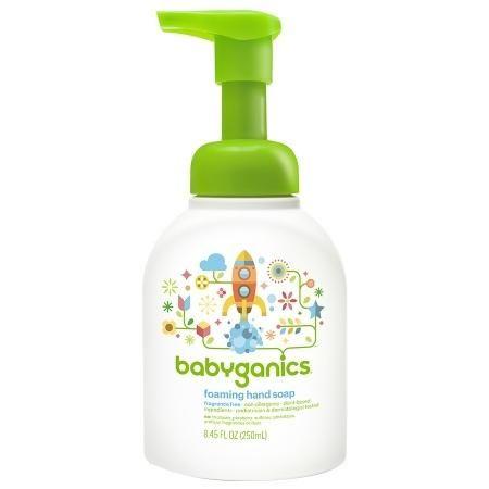 Babyganics Foaming Hand Soap Fragrance Free 8 45 Oz