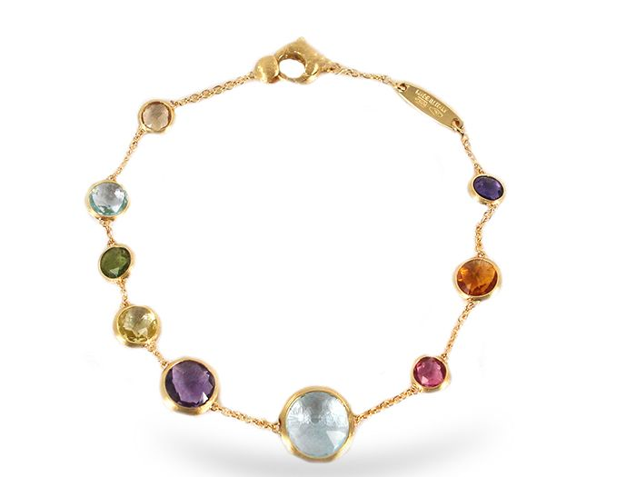 Marco Bicego Jaipur Bracelet, Fashioned in 18K Yellow Gold and Featuring Baby Mixed Semi-Precious Gemstones