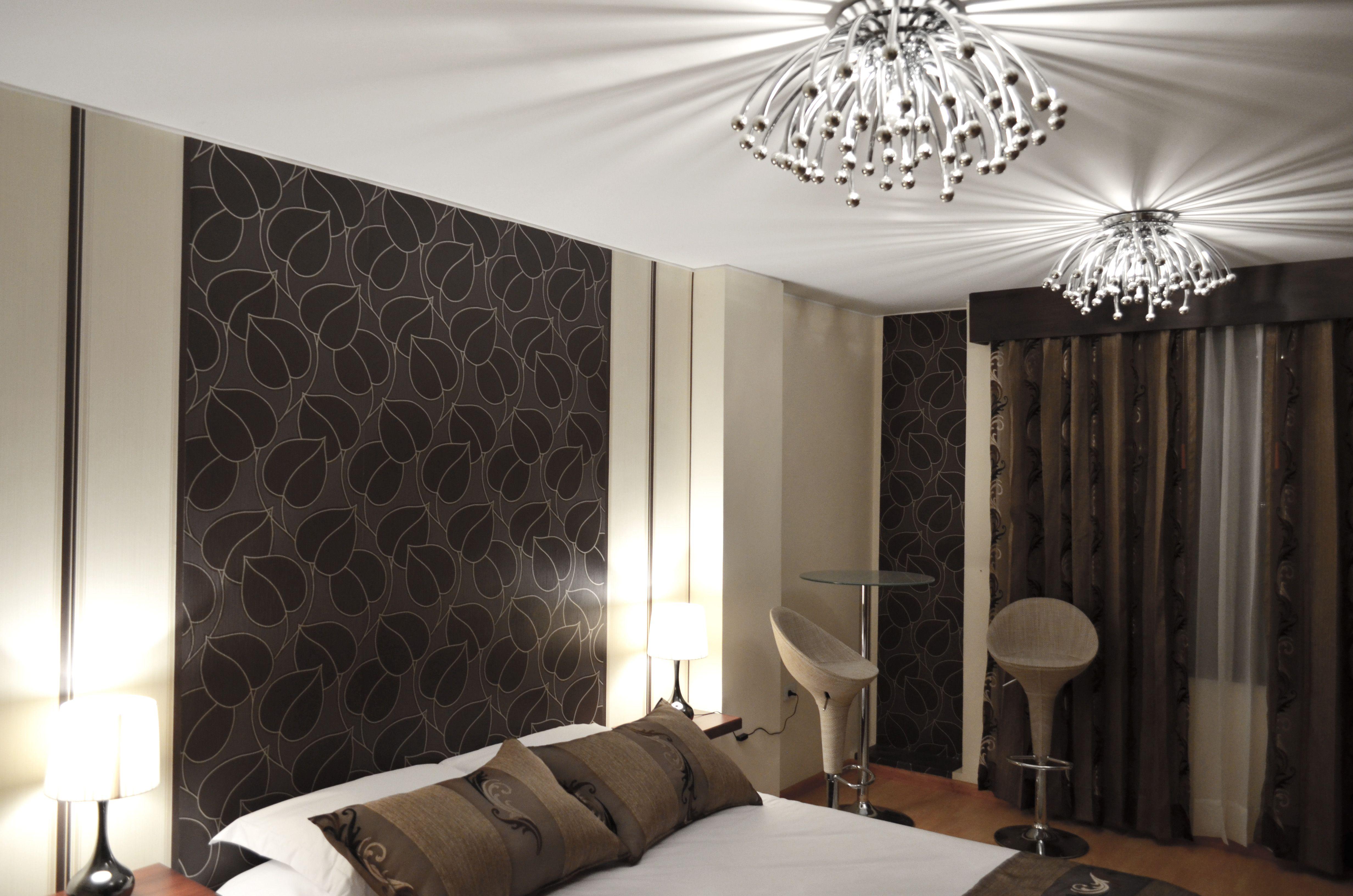 Lampara techo papel tapiz decoraci n hotel dise o de - Lamparas de interiores ...