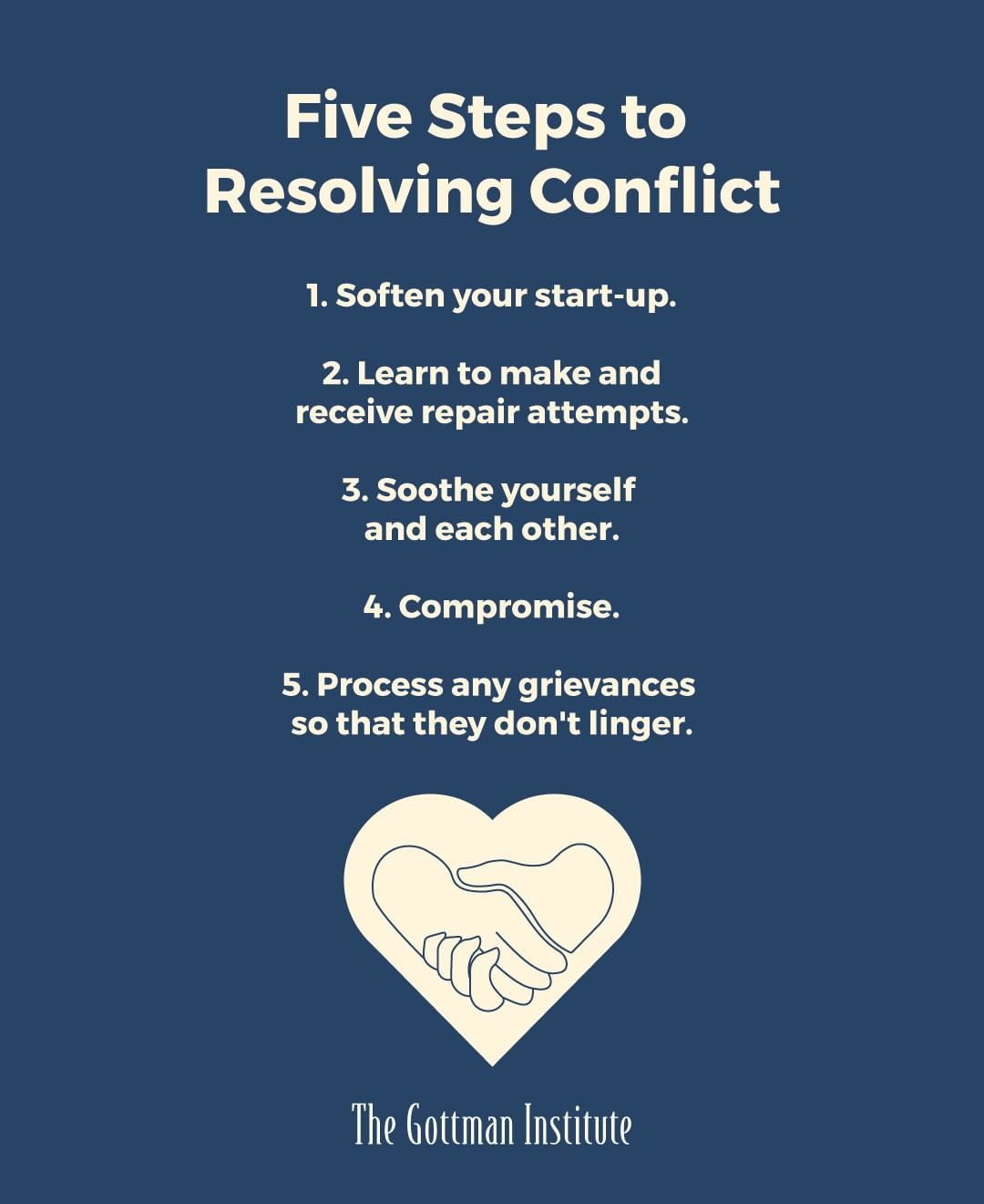 Five Steps To Resolving Conflict 1 Soften Your Start Up
