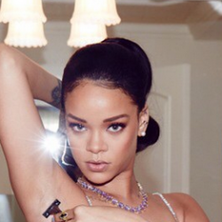 Rihanna Shaves Her Own Armpits, So You'll Know She's Just Like You. I'd shave her armpits for her...or anything else..