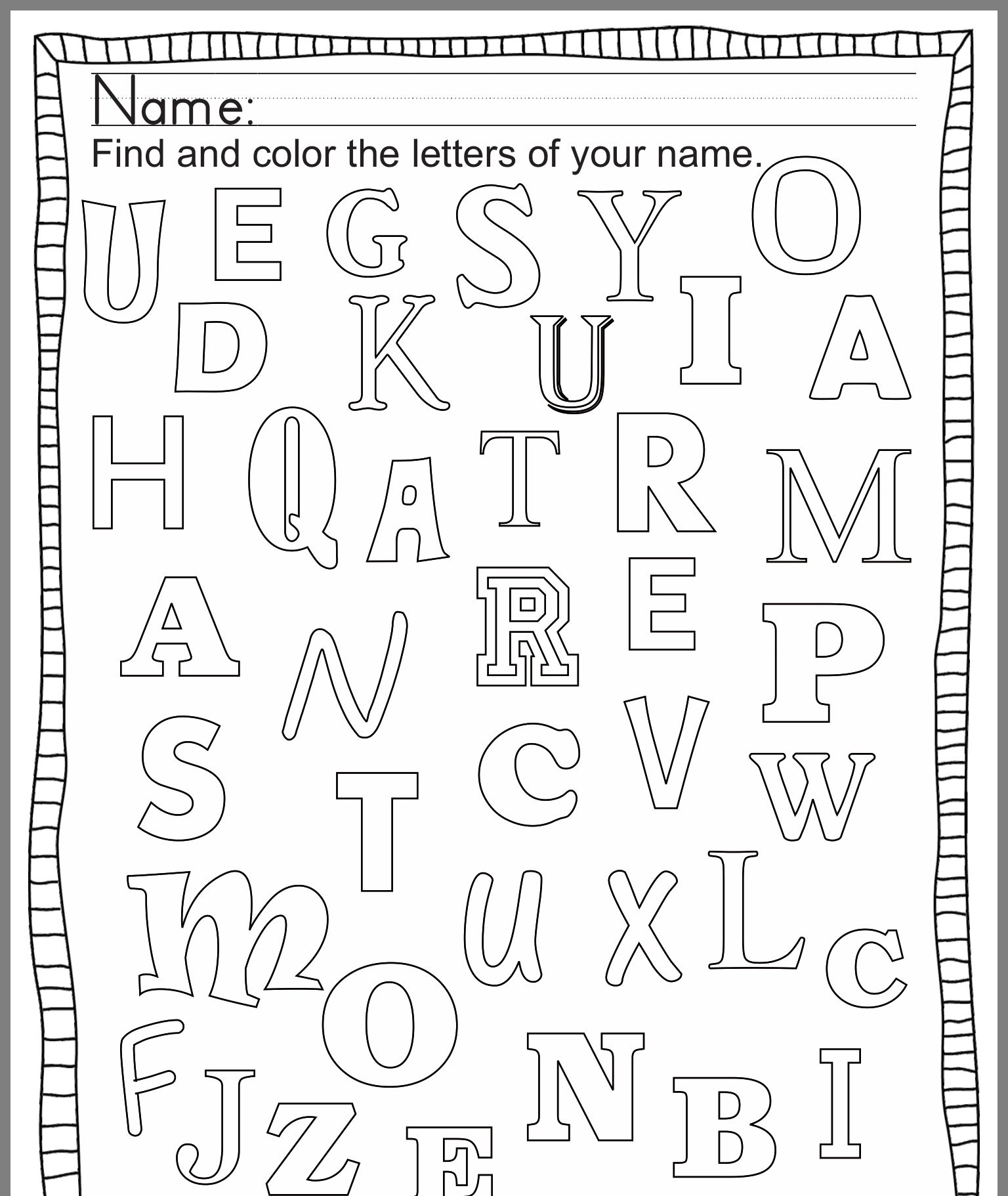 Lettering Alphabet Image By Rachael Grabek On Preschool