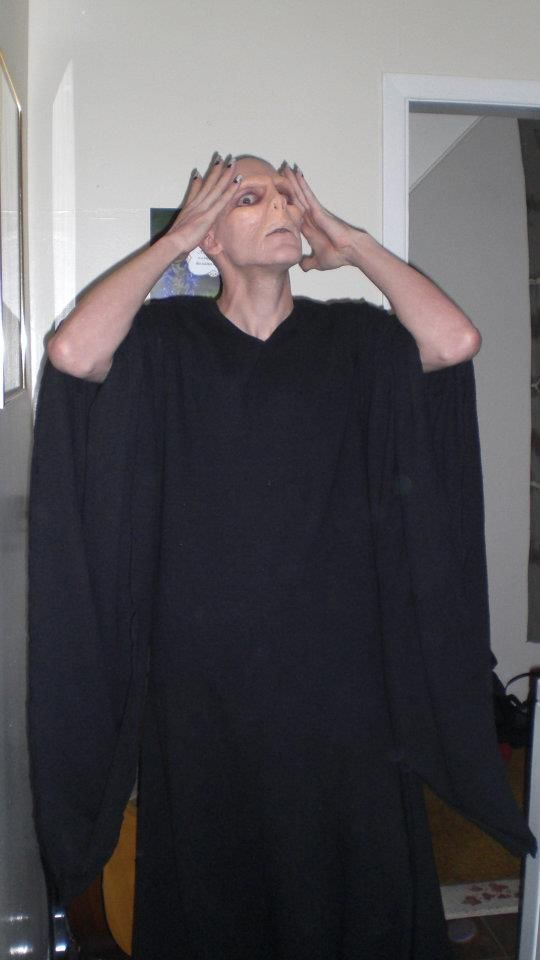 Home made voldemort costume harry potterways pinterest home made voldemort costume solutioingenieria Gallery