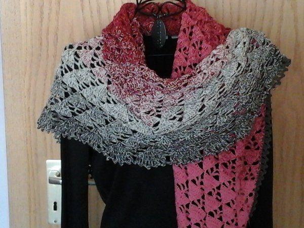 Tuch Schatten Mit 1 Bobbel Woolly Hugs Cotton Häkeln Schal
