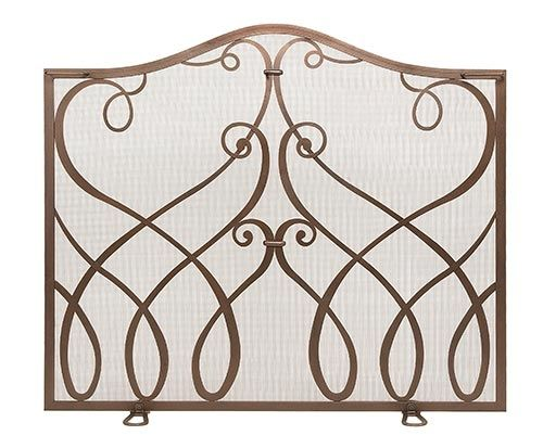 Minuteman International Cypher Fireplace Screen Seattleluxe Com With Images Wrought Iron Fireplace Screen Fireplace Screens Small Fireplace