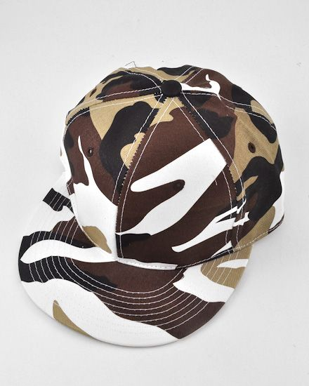 Unisex / Brown / Camo Solid Fitted / Hats