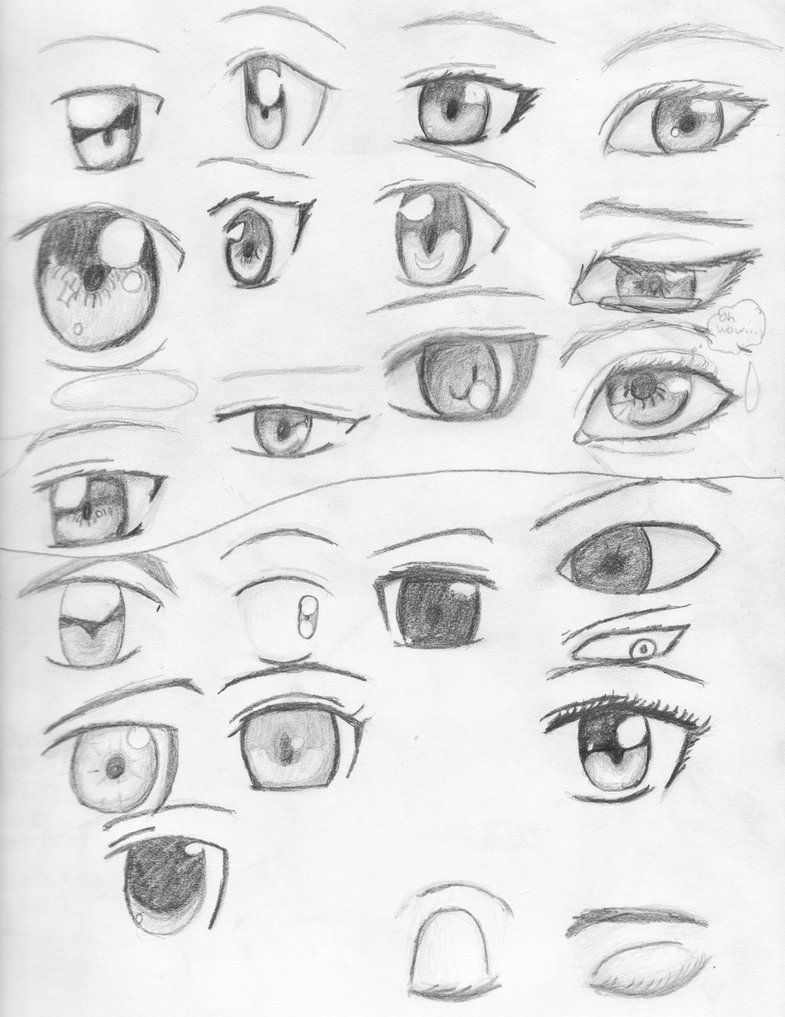 Anime Eyes By Visiouscatlovet On Deviantart Cartoon Eyes Drawing