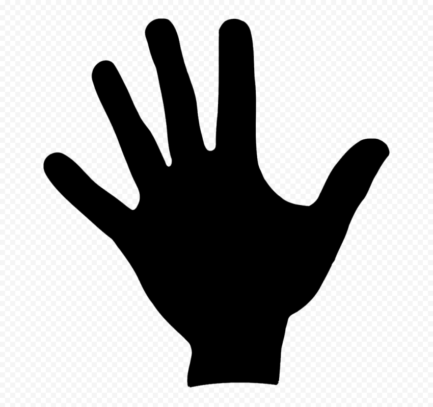 Hd Black Silhouette Left Hand Print Png In 2021 Black Silhouette Print Left Handed