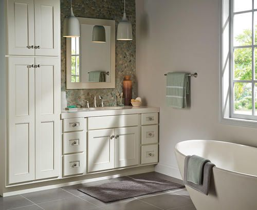. Briarwood Cottage Vanity with Linen Cabinet and Mirror at Menards