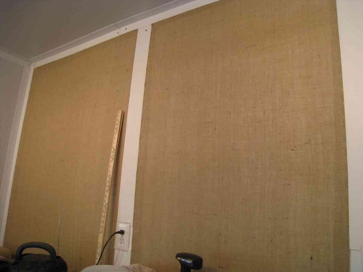 Burlap Wall Covering