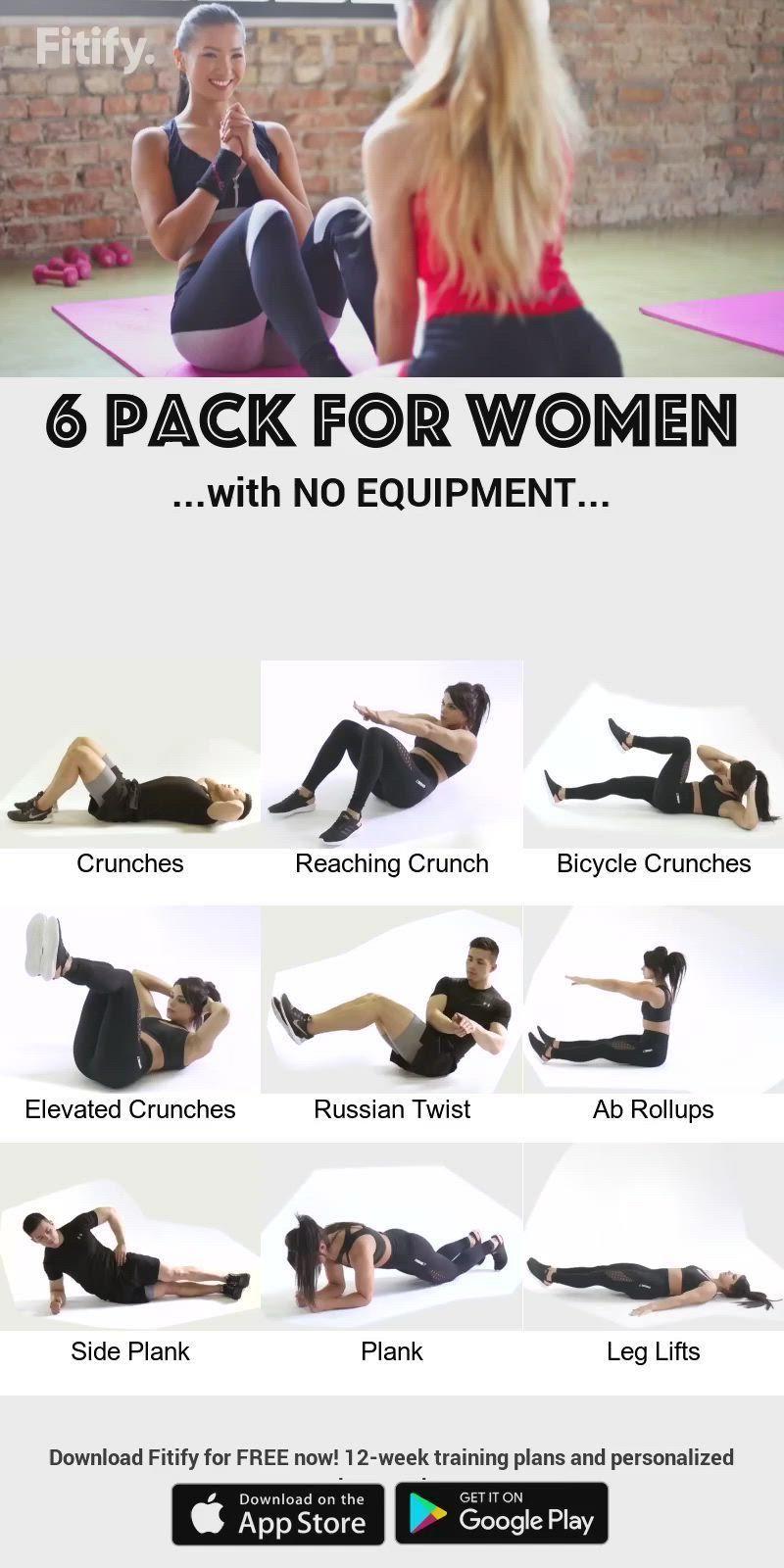 Women 6-Pack using NO Equipment