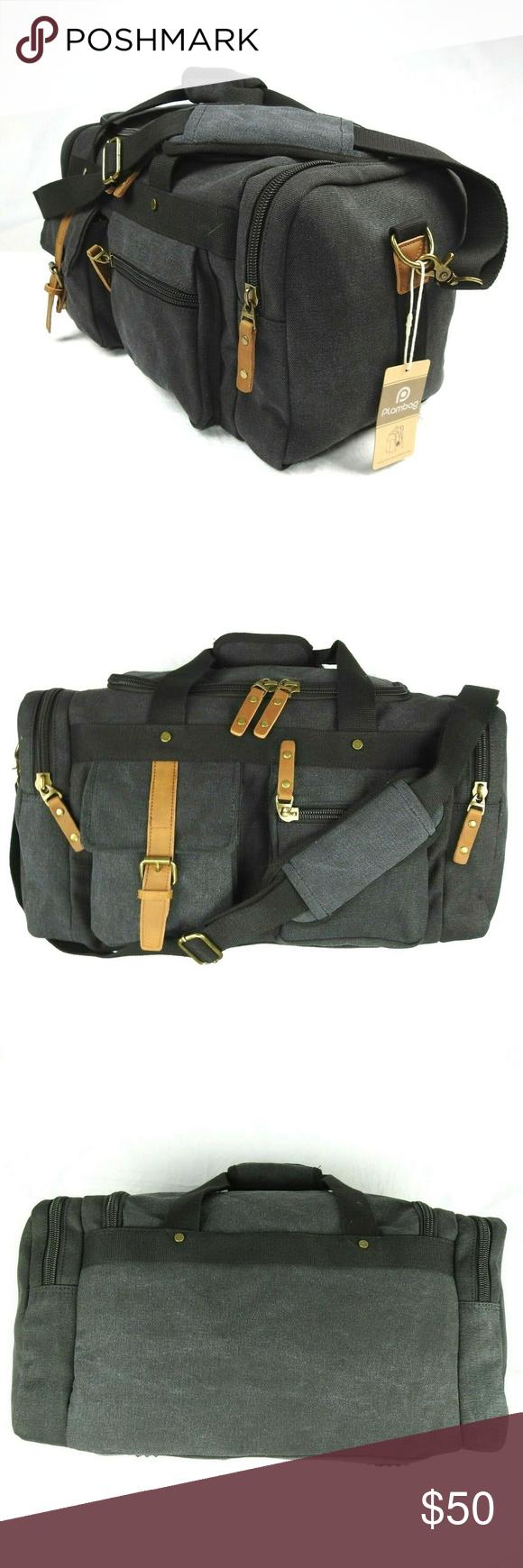 5edc8830184f Plambag Canvas Duffel Bag Overnight Travel Tote Plambag Canvas ...