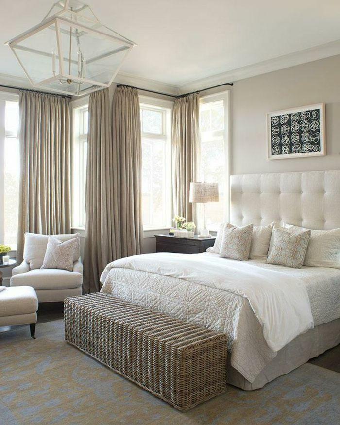 rideaux occultants de culeur beige chambre coucher murs. Black Bedroom Furniture Sets. Home Design Ideas