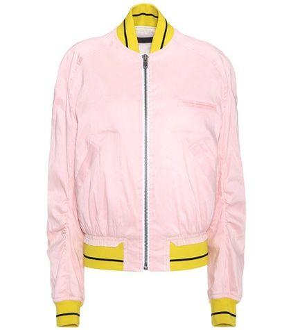 f53c422bc Buy it now. Linen-blend Bomber Jacket. Pale Pink Linen-blend Bomber ...