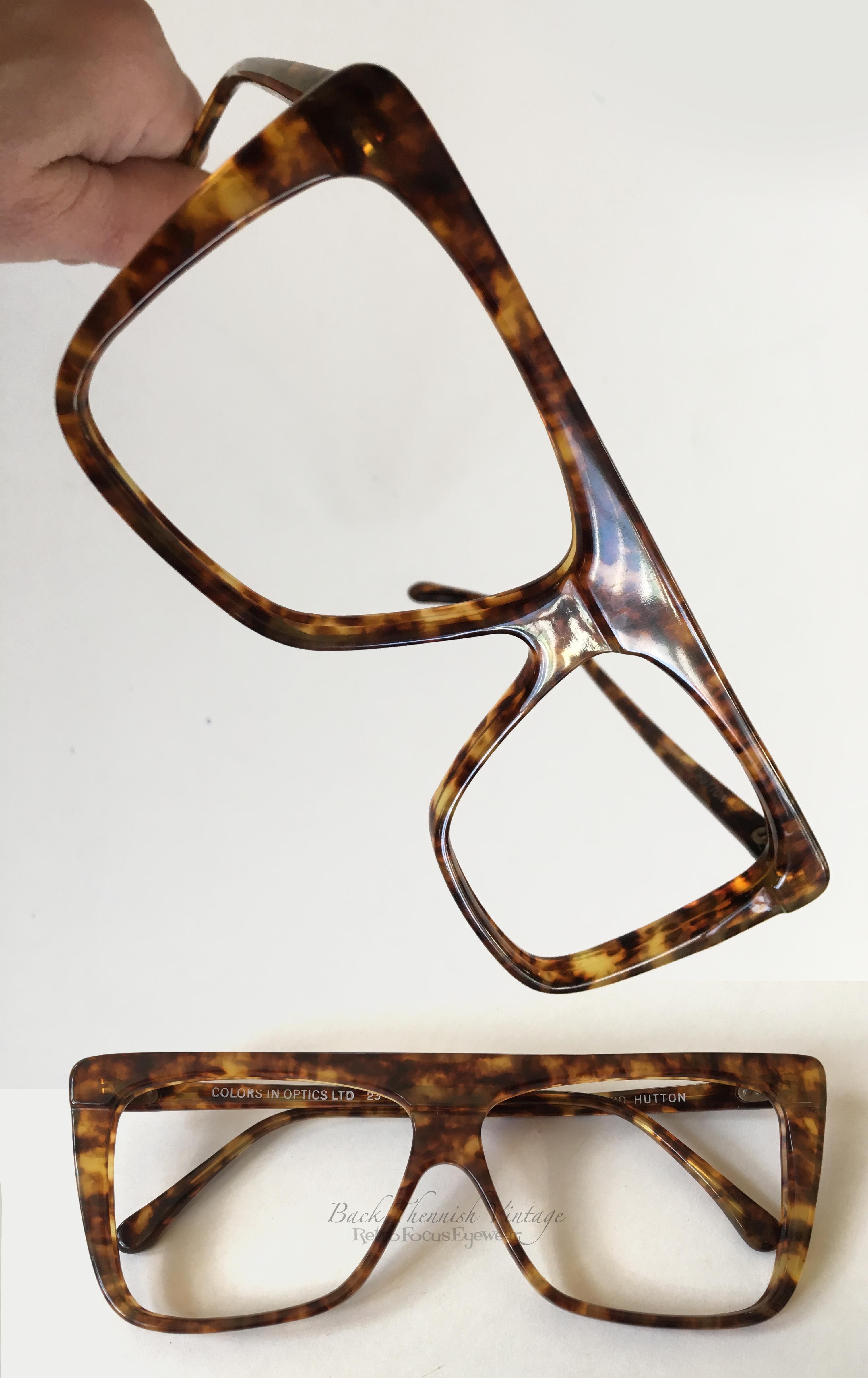87c138659f67 True vintage 70 s oversized tortoise eyeglasses by Colors in Optics Sanford  Hutton. Straight brow