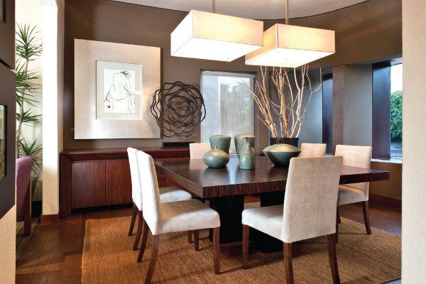 comedor 6 sillas tapizadas en tela blanca, mesa cuadrada ...