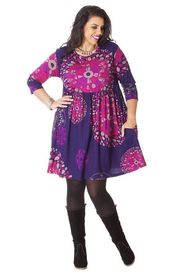 Robe Courte Violette Grande Taille Originale Et Fantaisie Grenade