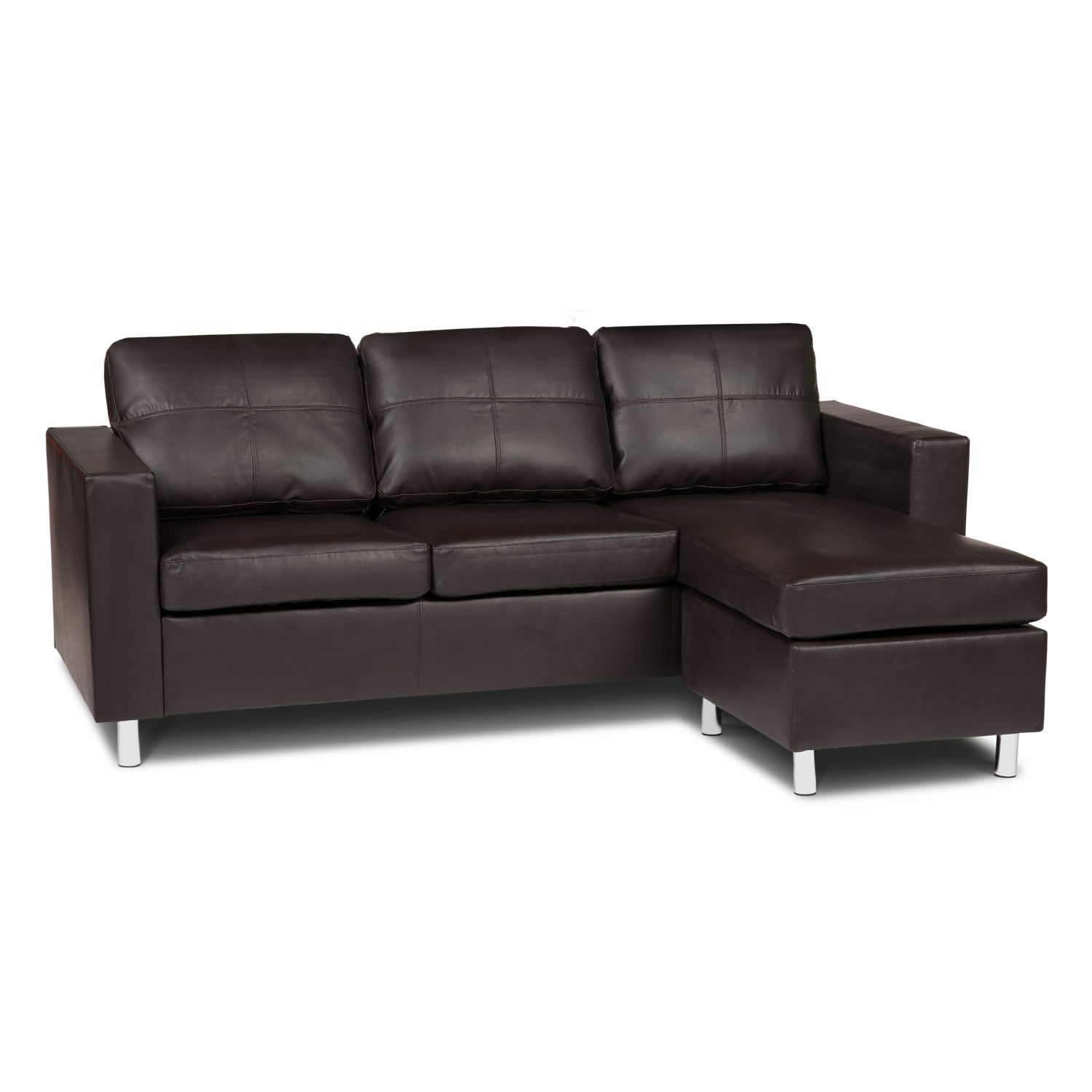 Zara Reversible Faux Leather Corner Sofa Next Day Delivery