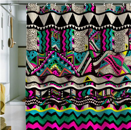 kris tate fiesta 1 shower curtain from deny designs saved to my accessories shop more products from deny designs on wanelo - Cute Shower Curtains