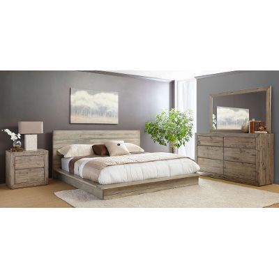 White Washed Modern Rustic 6 Piece Queen Bedroom Set Renewal Bedroom Sets Queen King Bedroom Sets Contemporary Bed Furniture