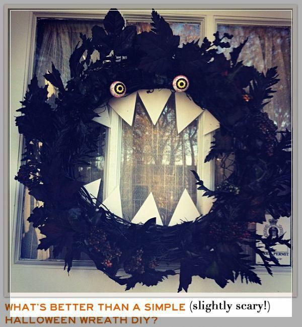 awesome-diy-halloween-wreaths-13 Wreaths Pinterest DIY - scary diy halloween decorations