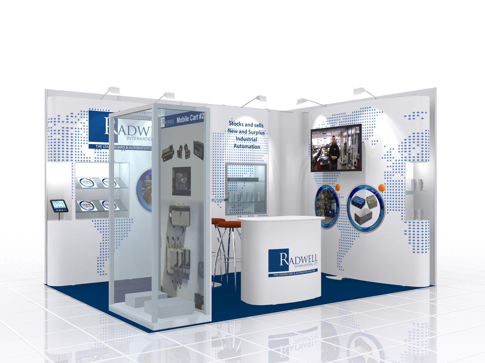 International Exhibition Stand Design : Exhibition stand design for radwell international