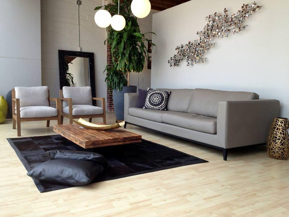 contemporary living room la roux sofa niebla living chair guada