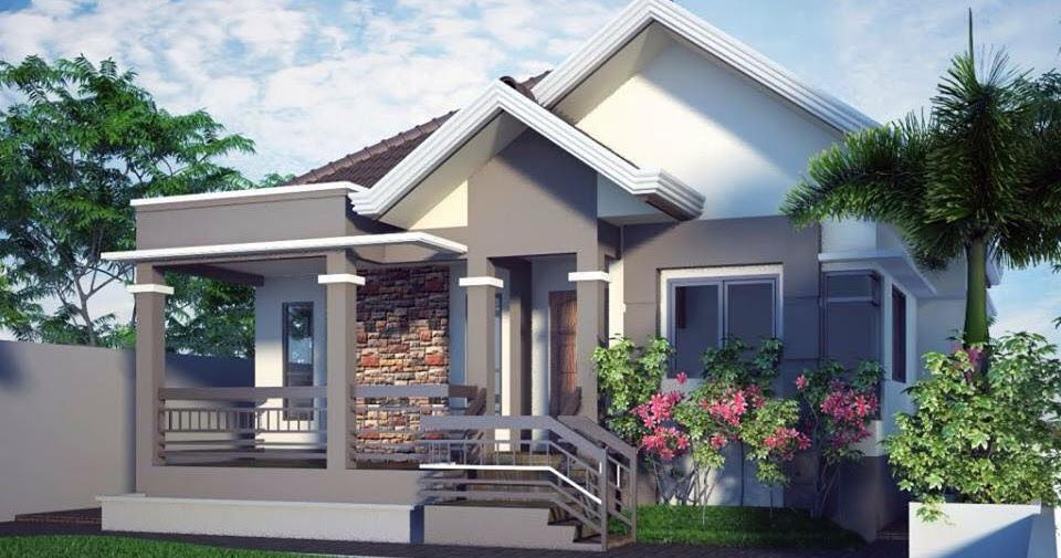 20 photos of small beautiful and cute bungalow house for Front house design for small houses