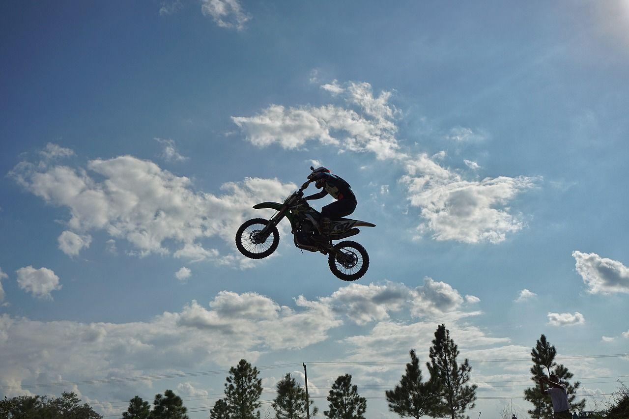 Free Photo Adrenaline Jump Dirt Bike Motorsport Motorcross