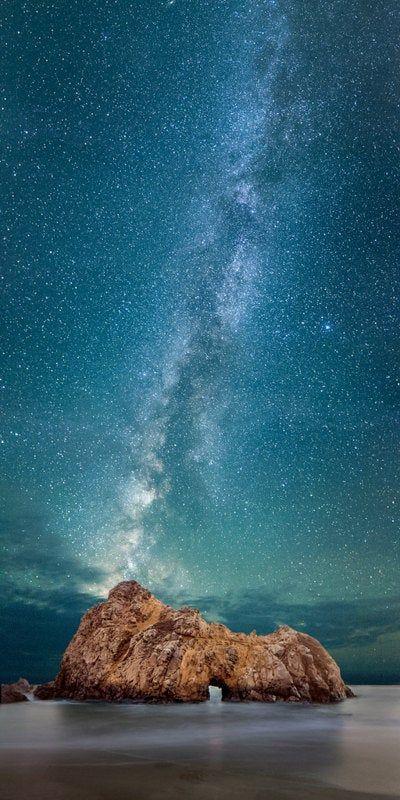 Pfeiffer Beach Print / Ocean Artwork / California Coast Art / Big Sur Photography / Beach Photography / Starry Night Photo / Milky Way Print