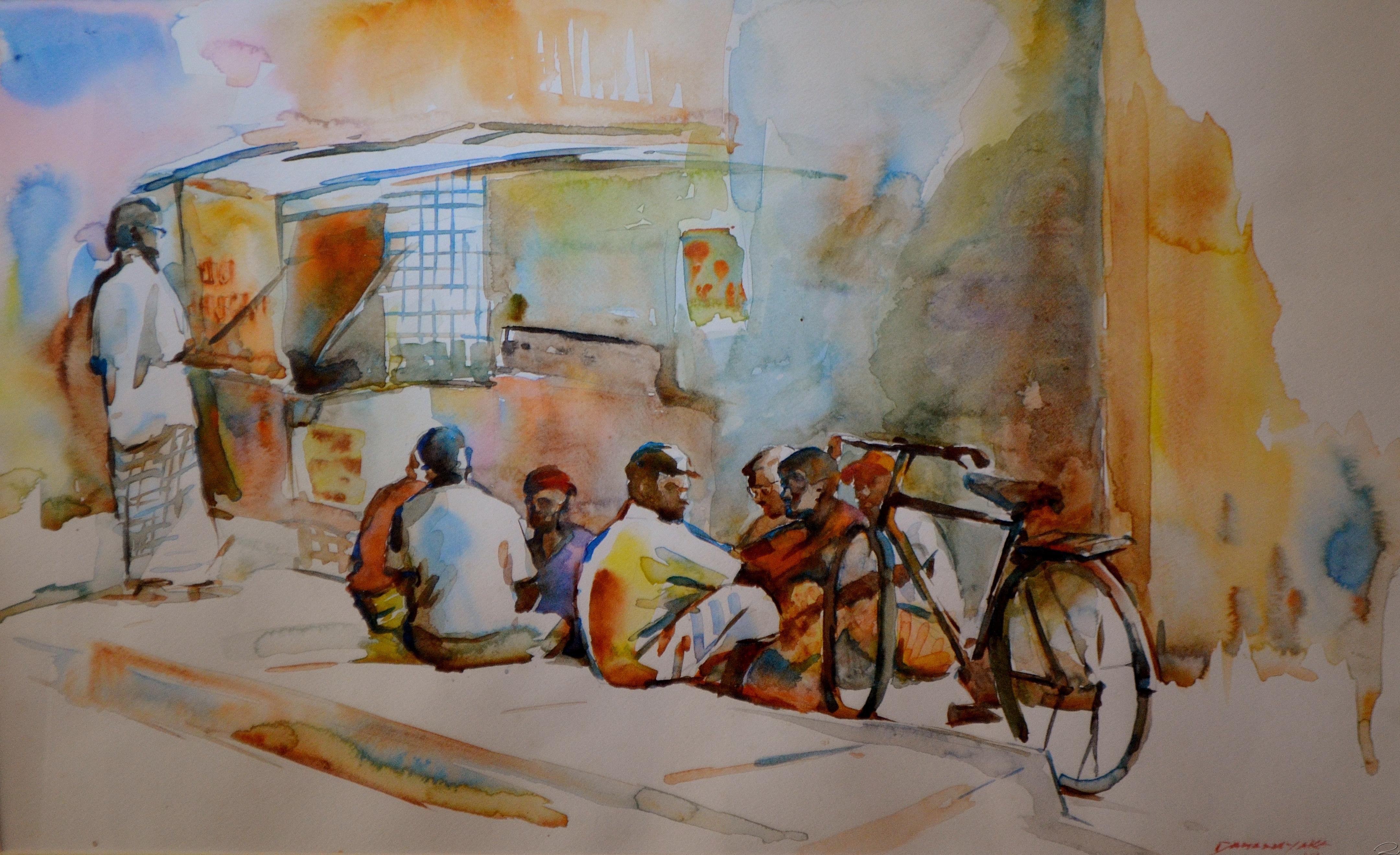 Street Scene In Jaffna By Anura Dahanayaka Srilanka