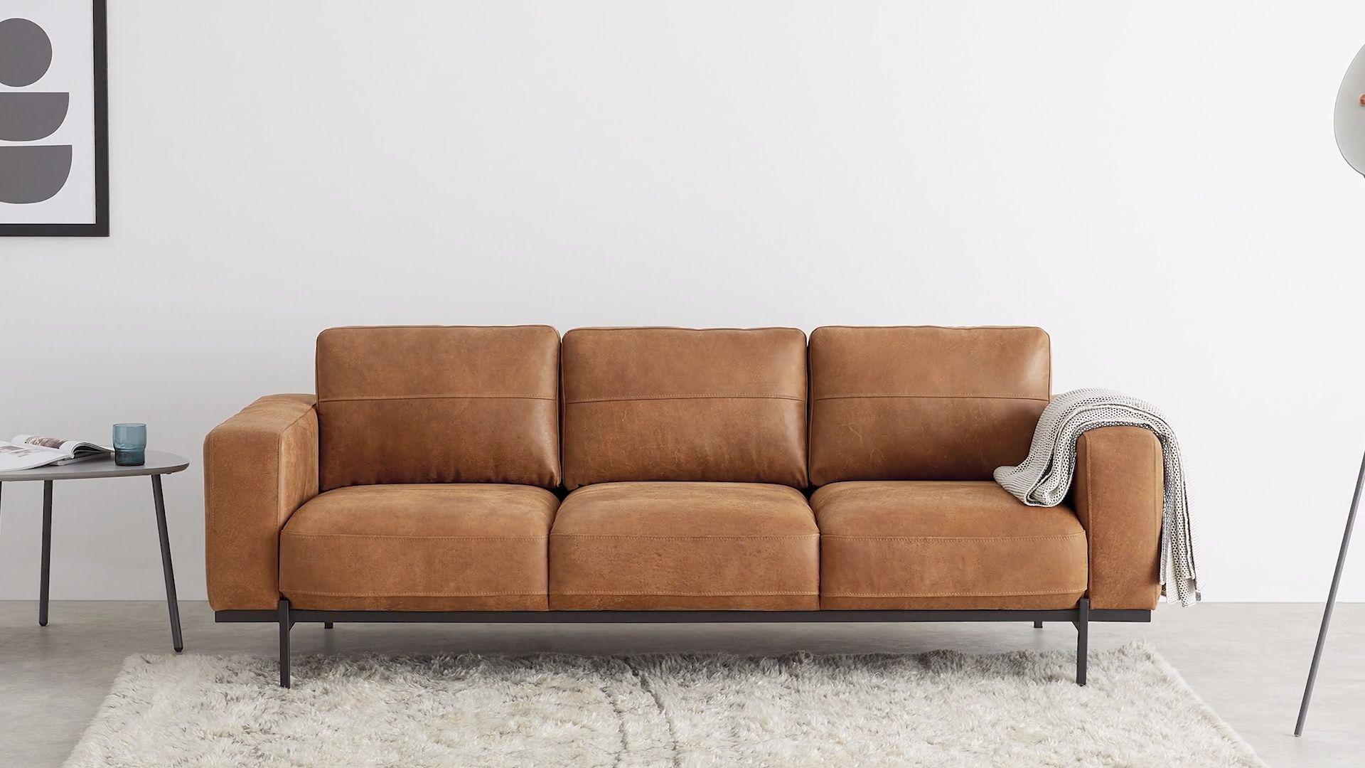 Jarrod 3 Sitzer Sofa Leder In Cognac Made Com In 2020 3 Sitzer Sofa Sofa Sessel