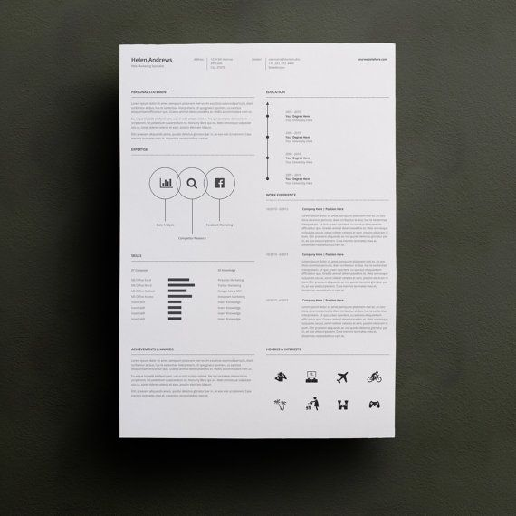 Resume Template Word Professional Resume Template by TypeMatters - resume or word