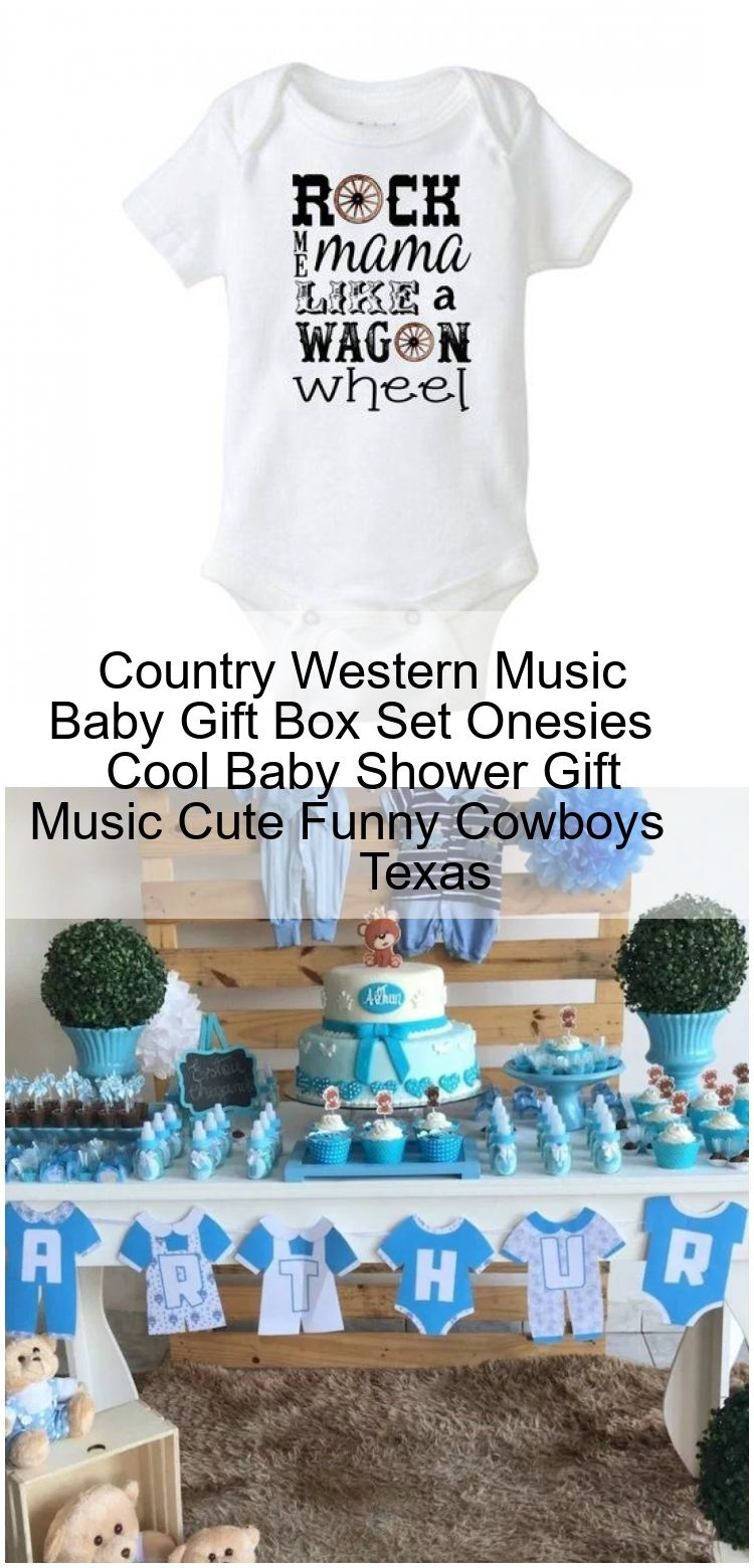 Country western music baby gift box set onesies cool baby