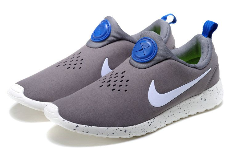 05420db05c8e0 Late Mens Nike Roshe Run Slip On Suede Cement Grey White Royal Blue ...