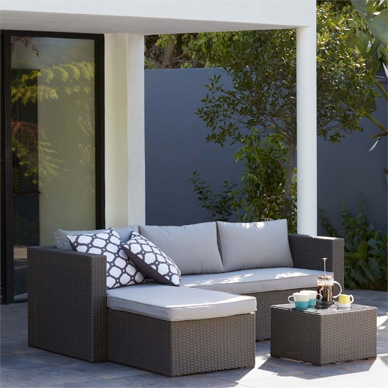 Find Alexandria Rattan Effect 3 Seater Corner Garden Sofa Set at ...